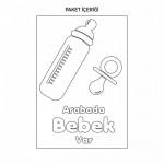 Arabada Bebek Var-3 Araç Sticker 21x29 cm
