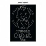 Arabada Bebek Var-4 Araç Sticker 21x29 cm, Oto sticker, Araba sticker