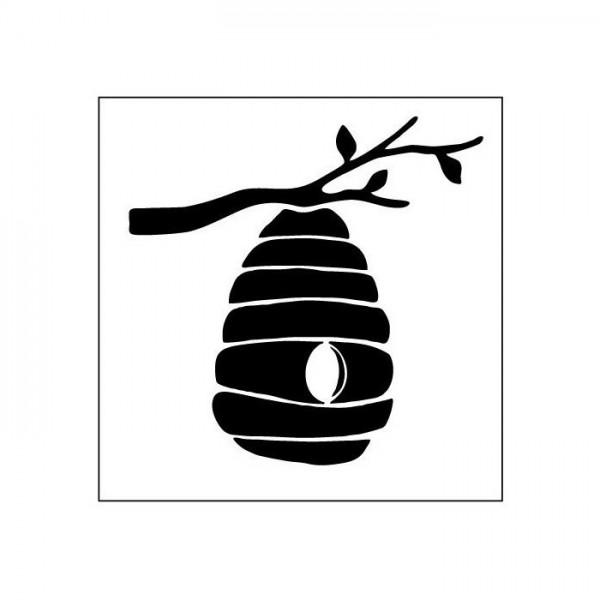 Arı Kovanı Stencil Tasarımı 30 x 30 cm