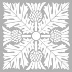 Art Nouveau 4 Stencil Tasarımı 30 x 30 cm