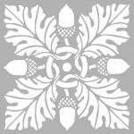 Art Nouveau Stencil Tasarımı 30 x 30 cm