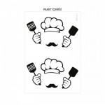 Aşçı Priz Sticker 21x29 cm, Elektrik Düğmesi Sticker