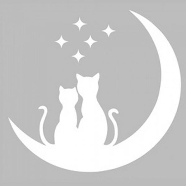 Aşık Kediler Stencil Tasarımı 30 x 30 cm