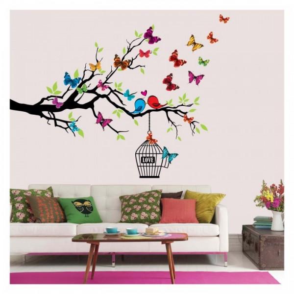 Aşık Kuşlar 132x99 cm. Duvar Sticker