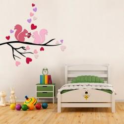 Aşık Sıncaplar Duvar Sticker, Çocuk Odası Sticker,Duvar Dekorasyonu