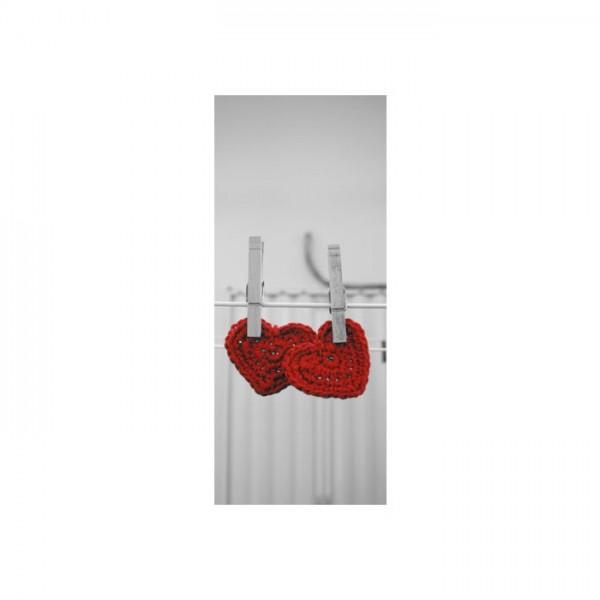 Asılı Kalpler Buzdolabı Sticker