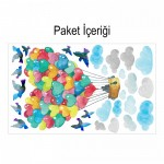 Aşk Balonu 180x90cm Duvar Sticker