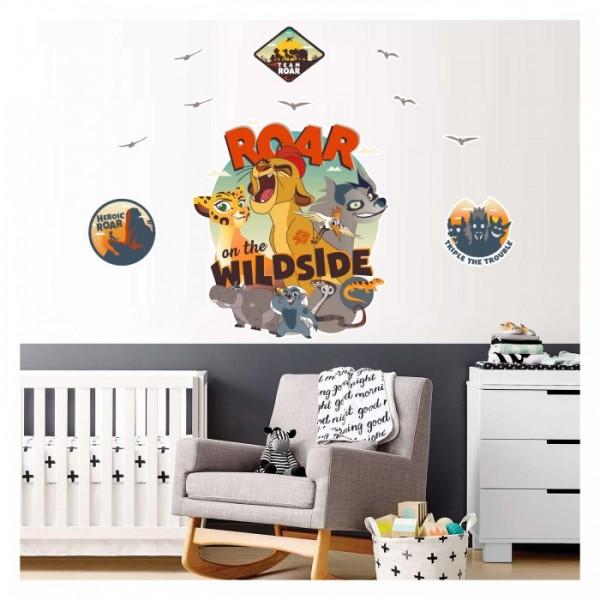 Aslan Koruyucular 90x110 cm Duvar Sticker