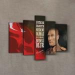 Atatürk-29 Kanvas Tablo 135x85 cm
