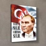 Atatürk-36 Kanvas Tablo 50X70 cm