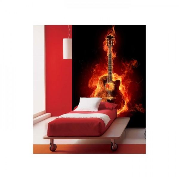 Ateşli Gitar 89x140 cm Duvar Resmi