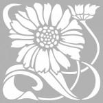 Ayçiçeği Karo 2 Stencil Tasarımı 30 x 30 cm