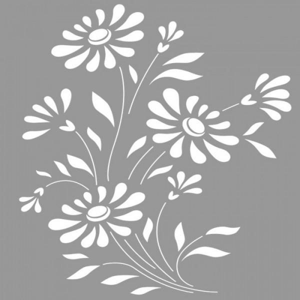 Ayçiçekleri Stencil Tasarımı 30 x 30 cm