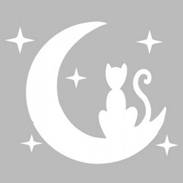 Ayda Kedi Stencil Tasarımı 30 x 30 cm