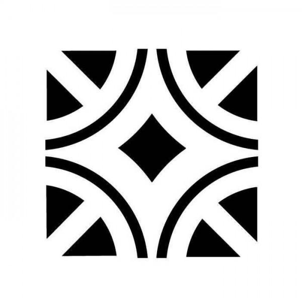 Baklava Çerçeve Karo Stencil Tasarımı 30 x 30 cm