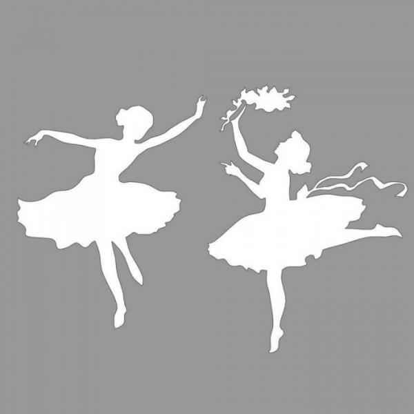 Balerin Kızlar Stencil Tasarımı 30 x 30 cm
