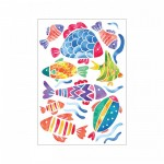 Balıklar Klozet Sticker