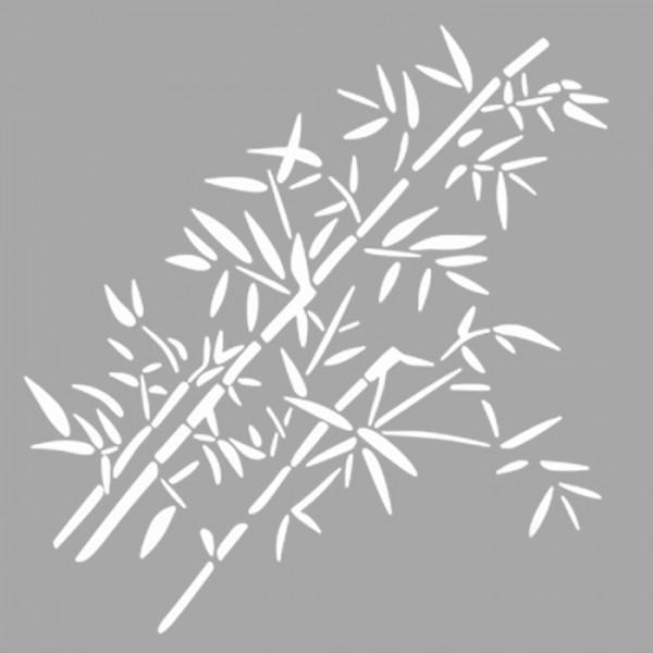 Bambular Stencil Tasarımı 30 x 30 cm