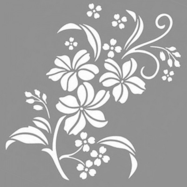 Barbara Desen Stencil Tasarımı 30 x 30 cm