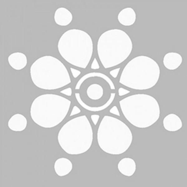 Basit Mandala 3 Stencil Tasarımı 30 x 30 cm