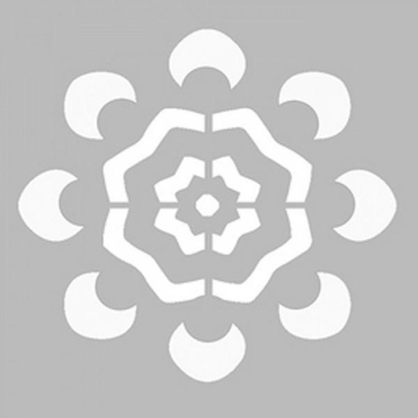 Basit Mandala 4 Stencil Tasarımı 30 x 30 cm