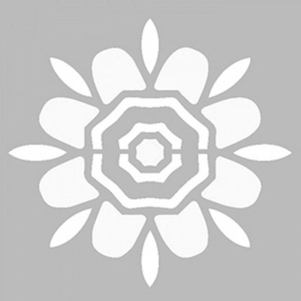 Basit Mandala 5 Stencil Tasarımı 30 x 30 cm