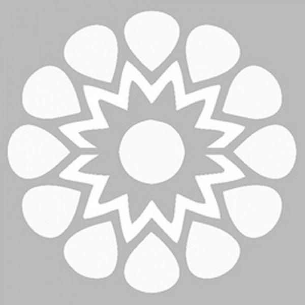 Basit Mandala Stencil Tasarımı 30 x 30 cm
