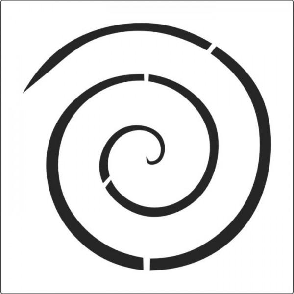 Basit Spiral Stencil Tasarımı 30 x 30 cm
