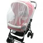 Bebek Arabası Puset Sinek Koruyucu Sineklik Örtü Aparat Beyaz