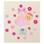 Bebek Priz Sticker