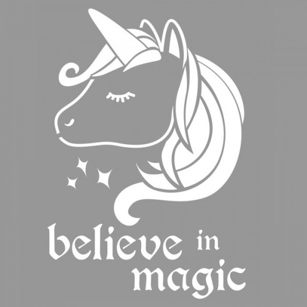 Believe In Magic  Stencil Tasarımı 30 x 30 cm