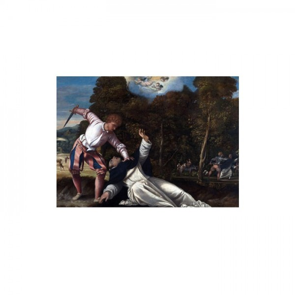 Bernardino Da Asola - The Death of Saint Peter Martyr 50x70 cm