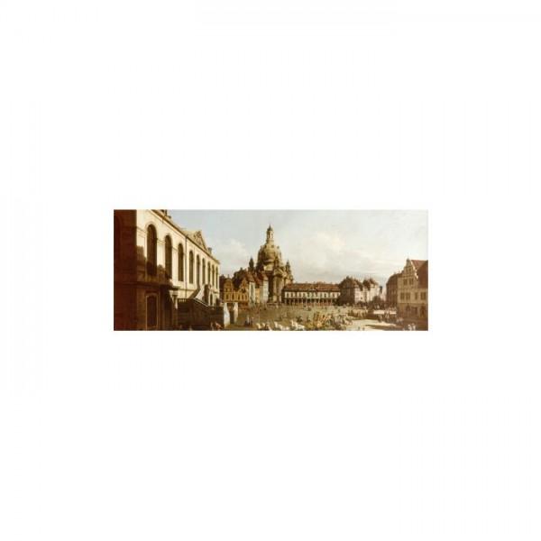 Bernardo Bellotto - Neumarkt in Dresden Kanvas Tablo 40X120 Cm