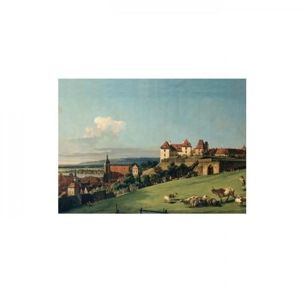 Bernardo Bellotto - View of Pirna from the Sonnenstein castle 50x70 cm