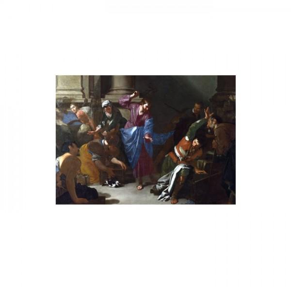 Bernardo Cavallino - Christ Driving the Traders From the Temple 50x70 cm