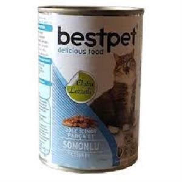 Bestpet Soslu Somon Balıklı Konserve Kedi Maması 400 gr