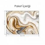 Beyaz Altın Ebruli Notebook Sticker
