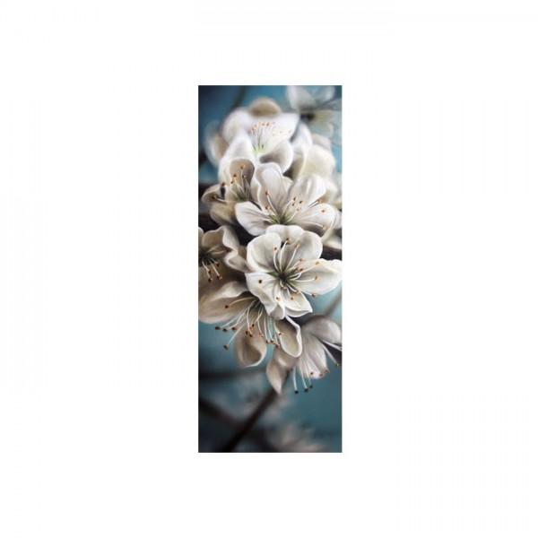 Beyaz Çiçek Buzdolabı Sticker