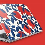 Beyaz Üzerine Nar Deseni Notebook Sticker