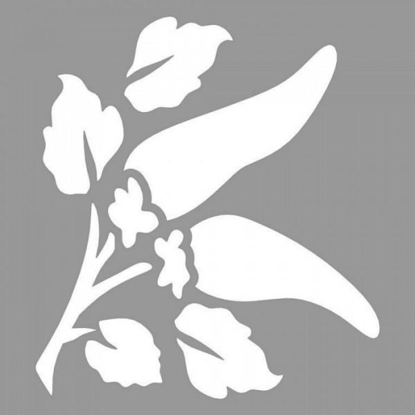 Biberler Stencil Tasarımı 30 x 30 cm