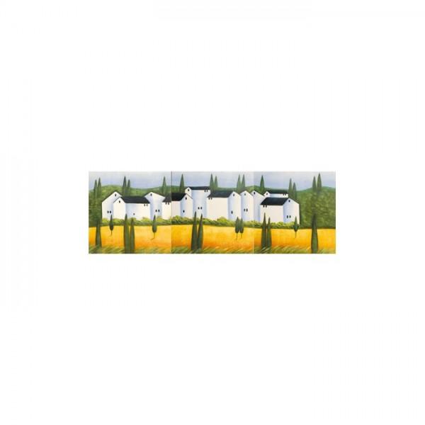 Big House 3 Parça Kanvas Tablo 40X120 Cm