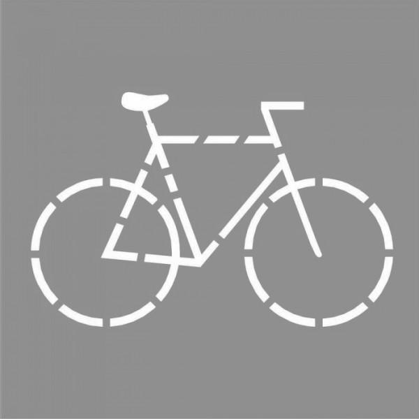 Bisiklet Monogram Stencil Tasarımı 30 x 30 cm