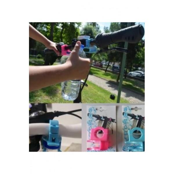 Bisiklet Direksiyonuna Pet Su Şişesi Takma Sabitleme Aparatı