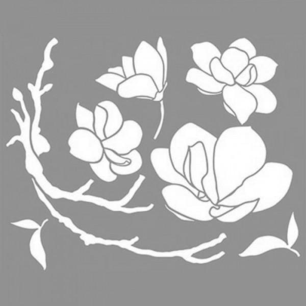 Bloom Branch Stencil Tasarımı 30 x 30 cm