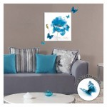 Blue Flower 40x40 cm 3D Kanvas Tablo