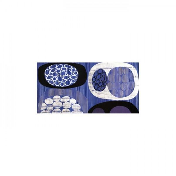 Blue Shapes 2 Parça Kanvas Tablo 80X40 Cm