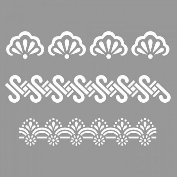 Bordür Stencil Tasarımı 30 x 30 cm