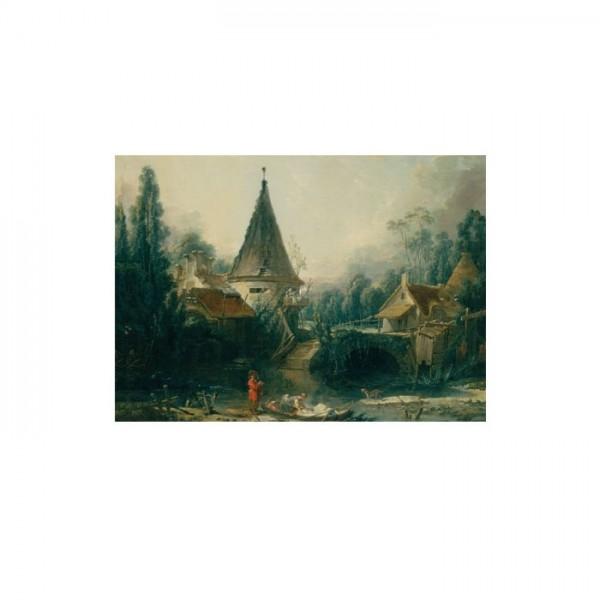 Boucher Francois - Landscape Near Beauvais 50x70 cm