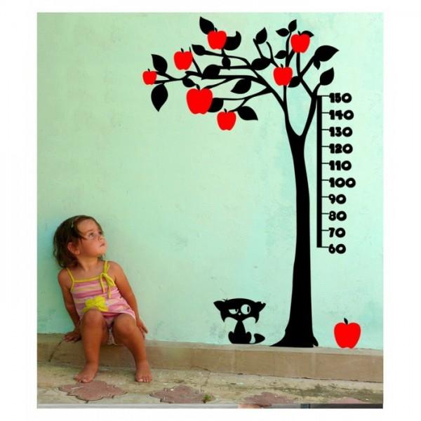 Boy Cetveli-5 Kadife Duvar Sticker 131X197 Cm, Çocuk Odası Dekorasyonu