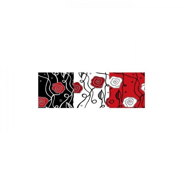 Brave 3 Parça Kanvas Tablo 120x40 Cm